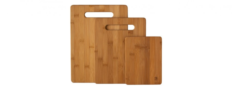 totally bamboo serving and cutting board set