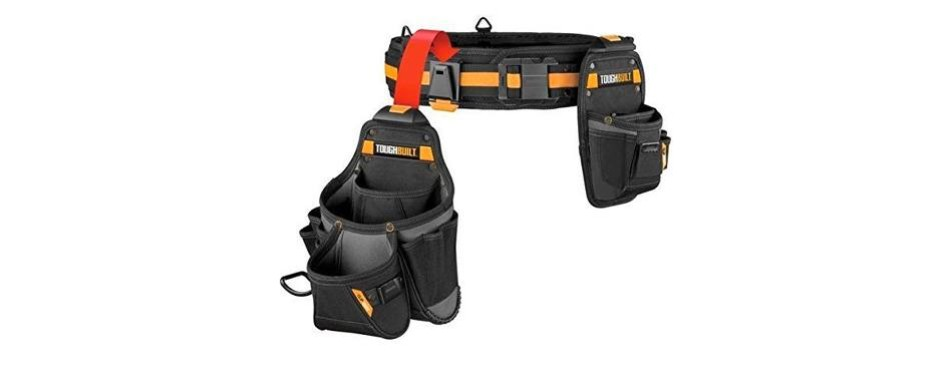 toughbuilt tool belt set and deluxe organizer