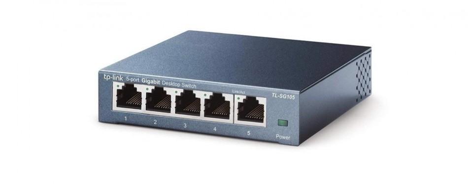 tp-link tl-sg105 5 port gigabit ethernet network switch