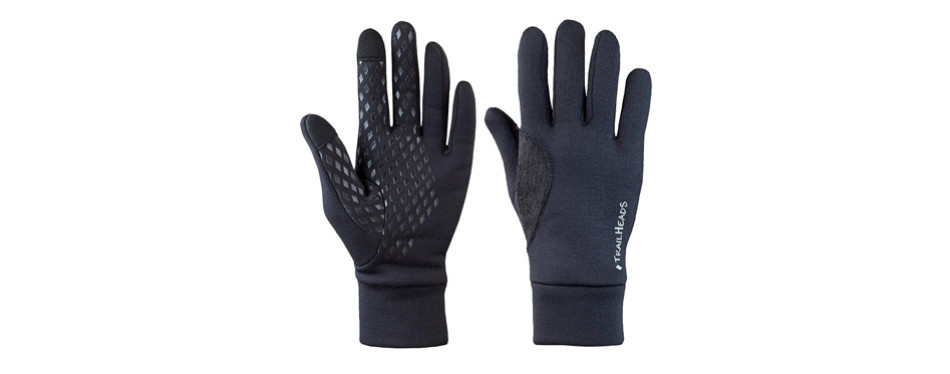 trailhead men's power stretch running gloves