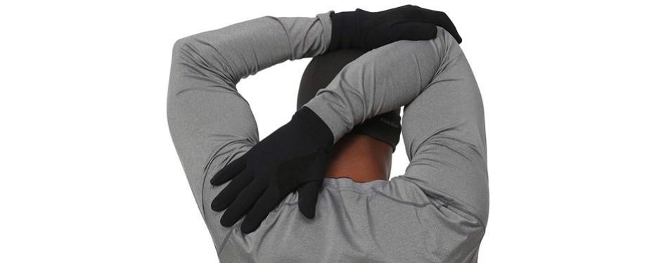 trailheads men's black touchscreen gloves