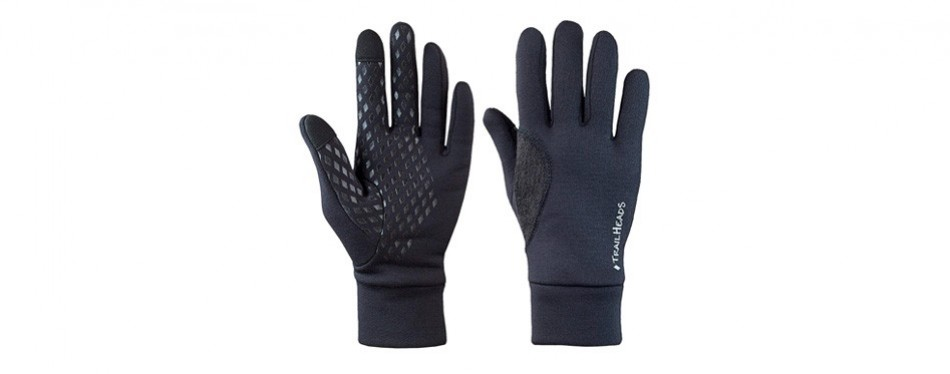 trailheads men's black touchscreen gloves