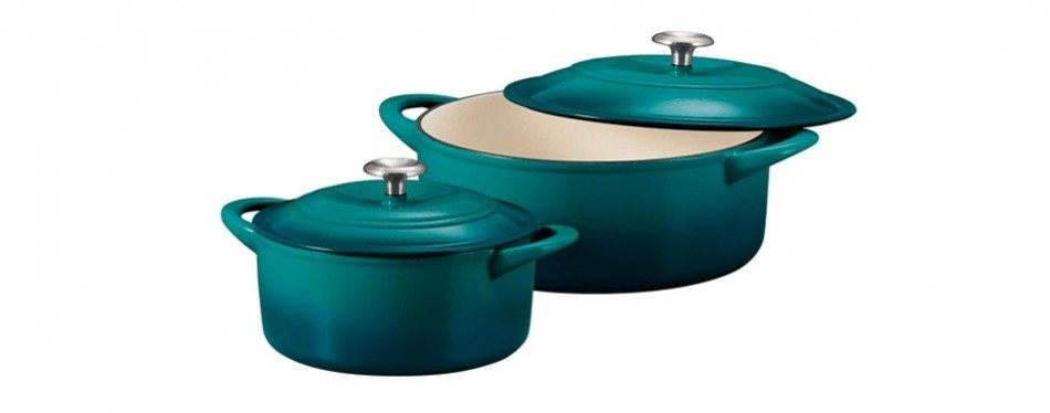 tramontina 80131/648ds enameled cast iron covered dutch oven combo