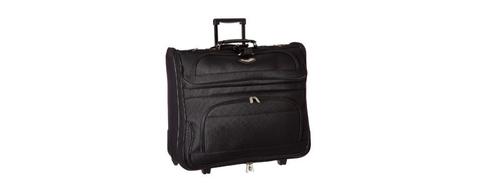 travel select amsterdam rolling garment bag wheeled luggage case