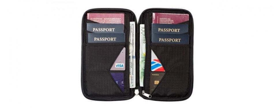 travel wallet & family passport holder