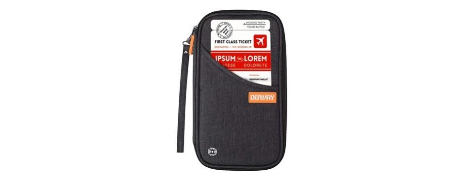 travel wallet rfid blocking document organizer bag