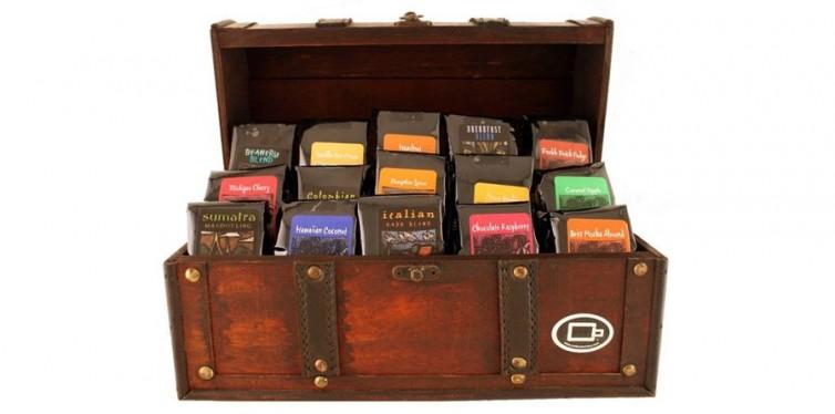 treasure chest of coffee