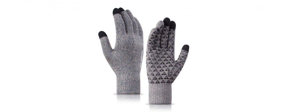 trendoux knit touch screen anti-slip winter gloves