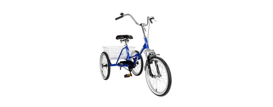 tri-rad adult unisex folding tricycle