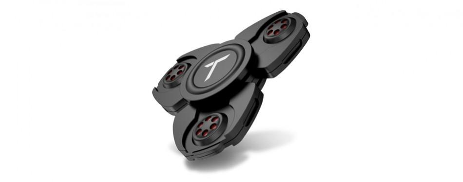 trianium brand black metal fidget spinner