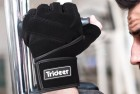 "trideer weight lifting gloves with 18"" wrist wraps support"