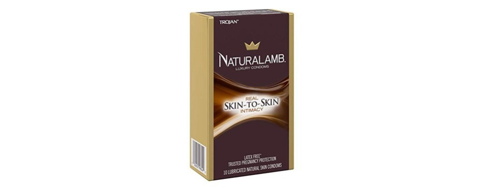 trojan naturalamb latex free luxury condoms