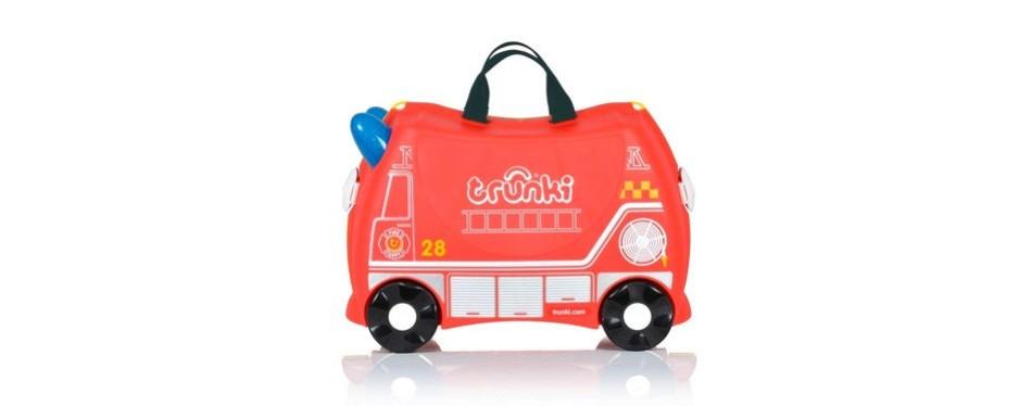 trunki fire truck suitcase