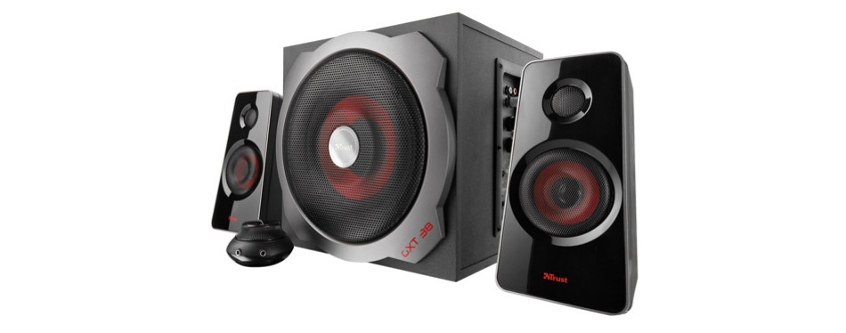 trust gxt 38 120-watt 2.1 gaming speakers
