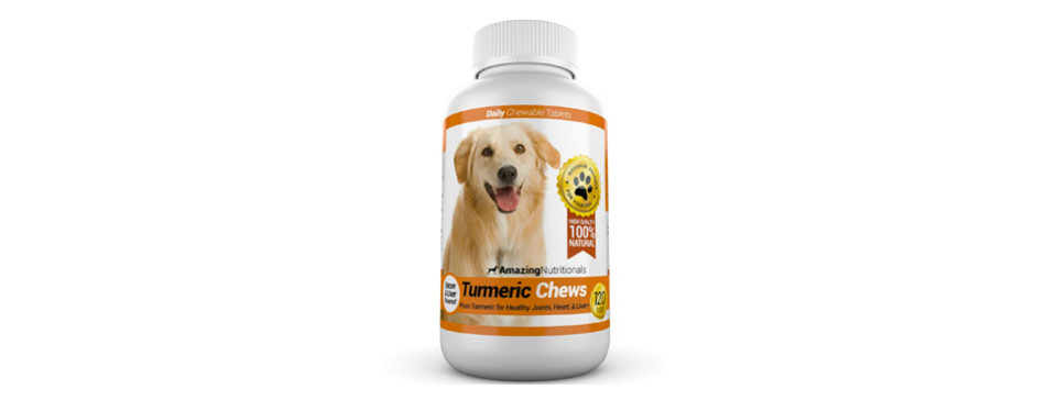 turmeric chews â for dogs by amazing nutritionals