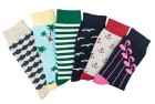 tutast colorful patterned crew dress socks for men