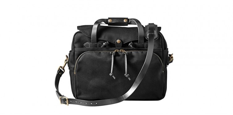 twill padded laptop briefcase