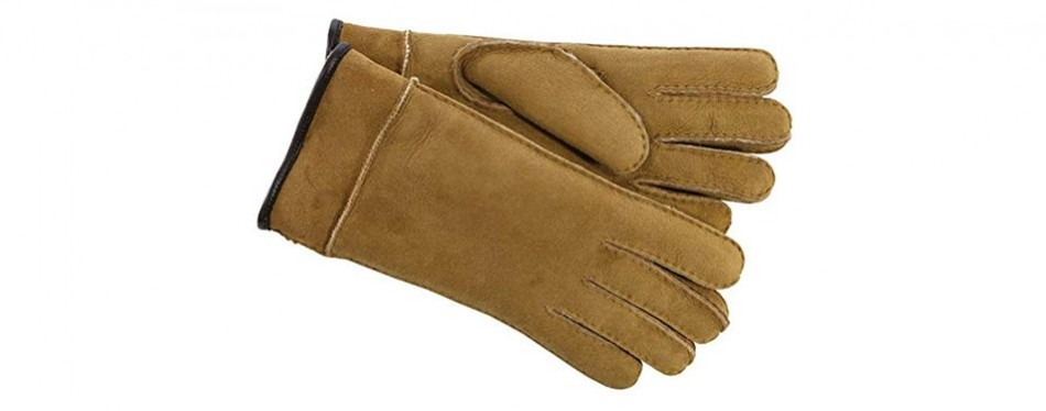 ugg men's frosted turn cuff gloves
