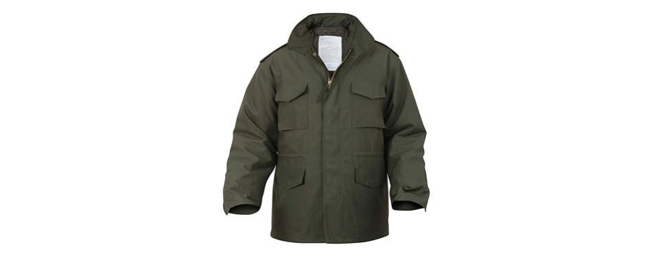 ultra force olive drab m-65 field jacket
