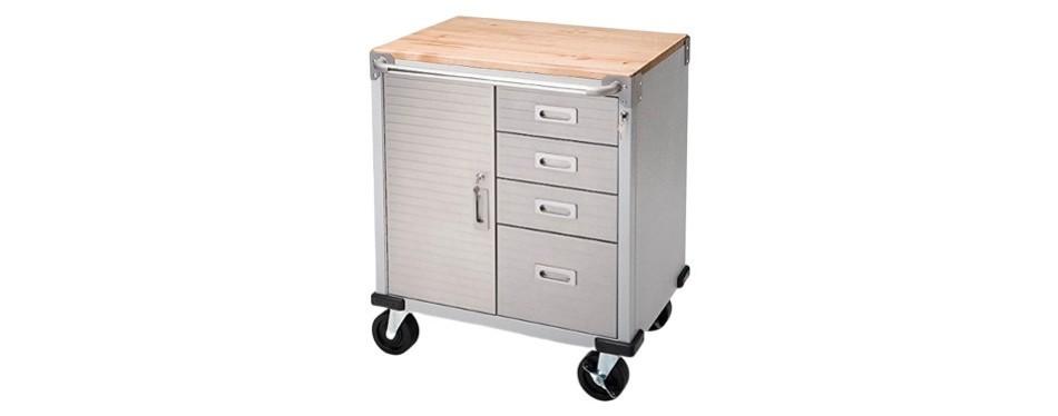 ultra heavy duty seville classics rolling storage cabinet