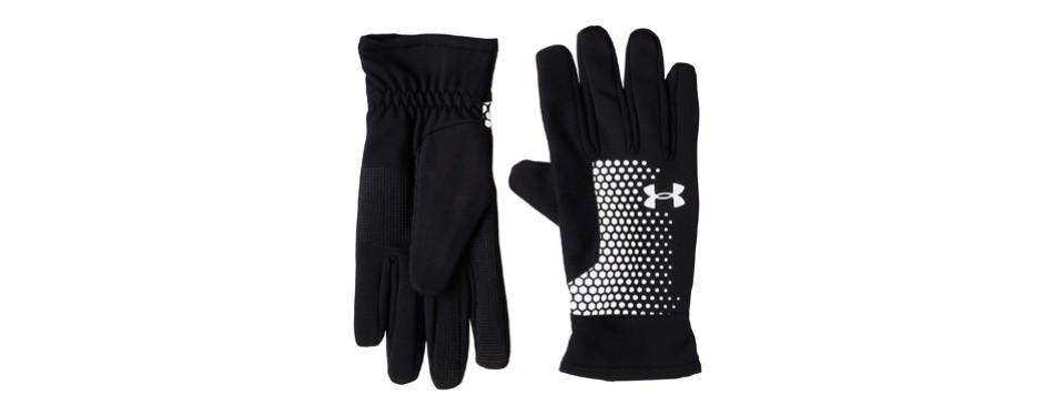 under armour men's threadborne run gloves