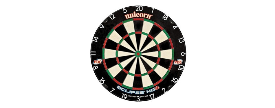 unicorn eclipse hd2 high definition professional bristle dartboard