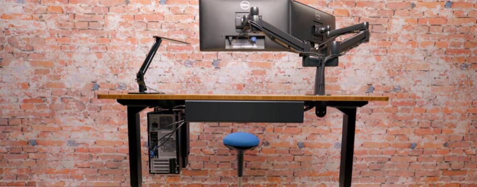 uplift bamboo desk