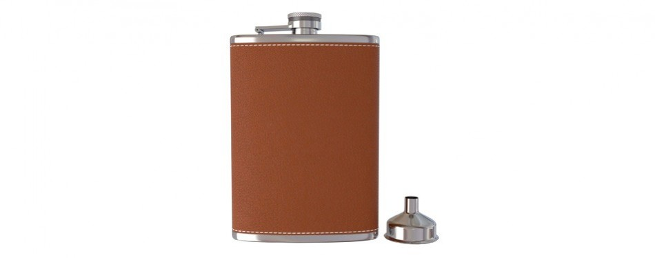 uport'spocket hip flask with funnel