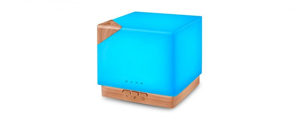 square aromatherapy essential oil diffuser and humidifier