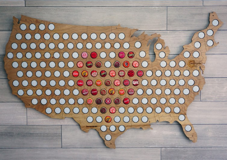 USA Beer Cap Maps