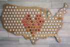 USA Beer Cap Maps