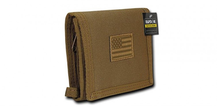 RAPDOM United States American Flag Trifold Wallet
