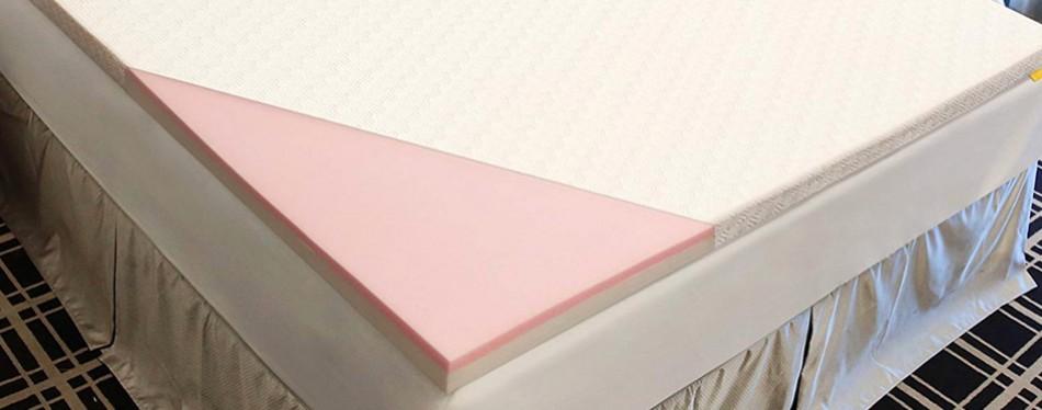 uttu 3-inch red respira memory foam mattress topper