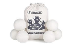 levibasic 6-pack wool dryer balls