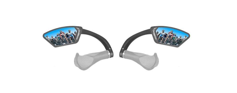 venzo bicycle handlebar anti-glare mirror