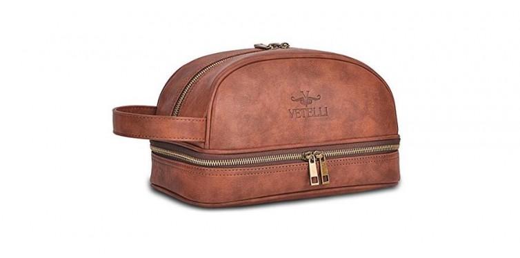 vetelli leather dopp kit