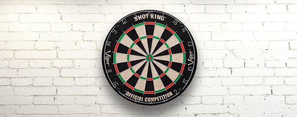 viper shot king regulation bristle steel tip dartboard set