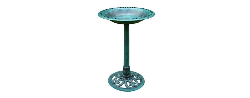 vivohome antique garden bird bath