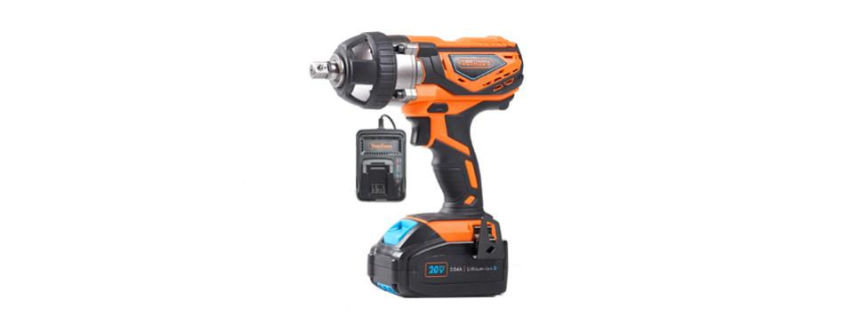 von haus 1/2 inch 20-volt cordless impact wrench
