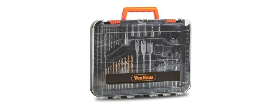 vonhaus 100-piece drill and drive bit set