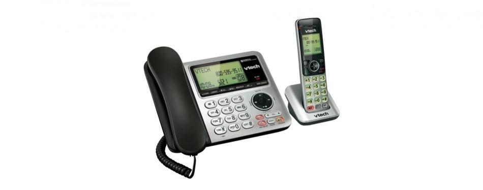 vtech cs6649 expandable corded/cordless phone system
