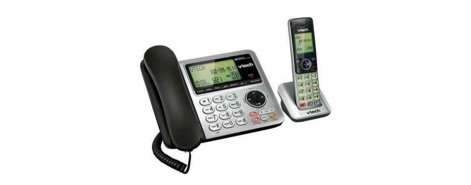vtech cs6649 expandable corded/cordless phone system
