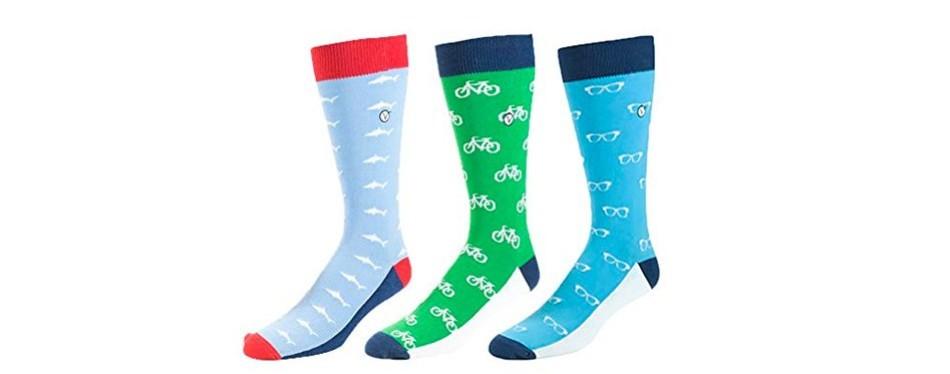 vybe men's crew dress socks