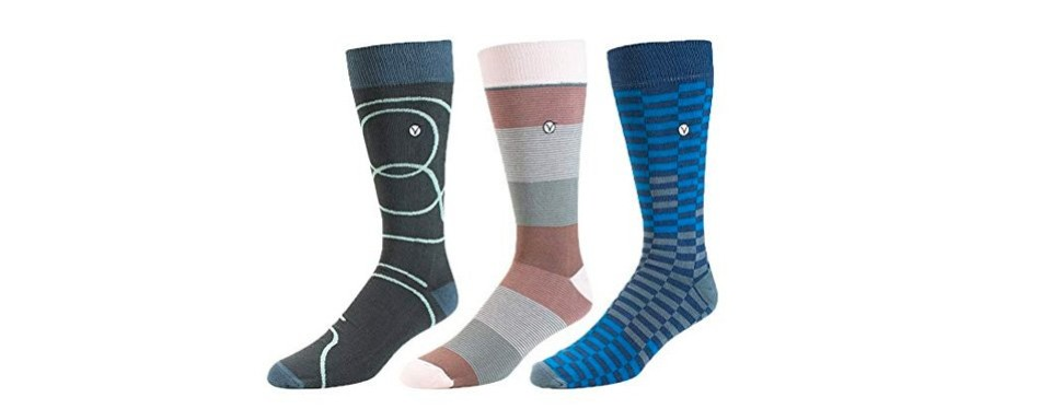 vybe men's crew dress socks