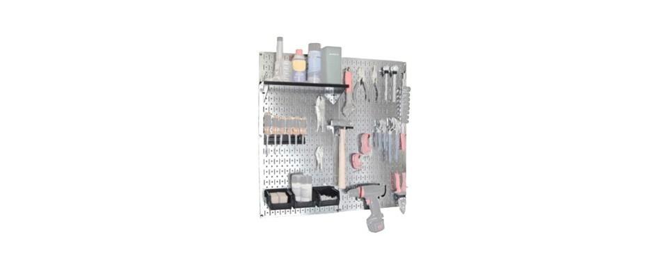 wall control galvanized steel pegboard tool organizer
