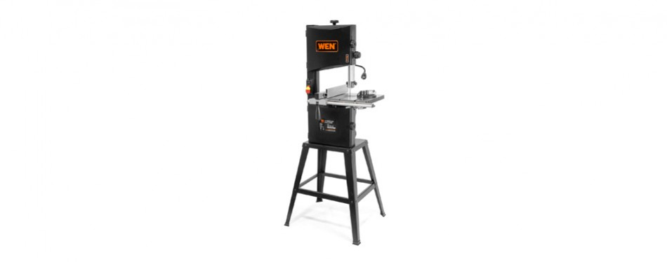 wen 3962 two-speed band saw with stand