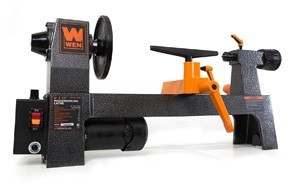 wen variable speed benchtop mini wood lathe