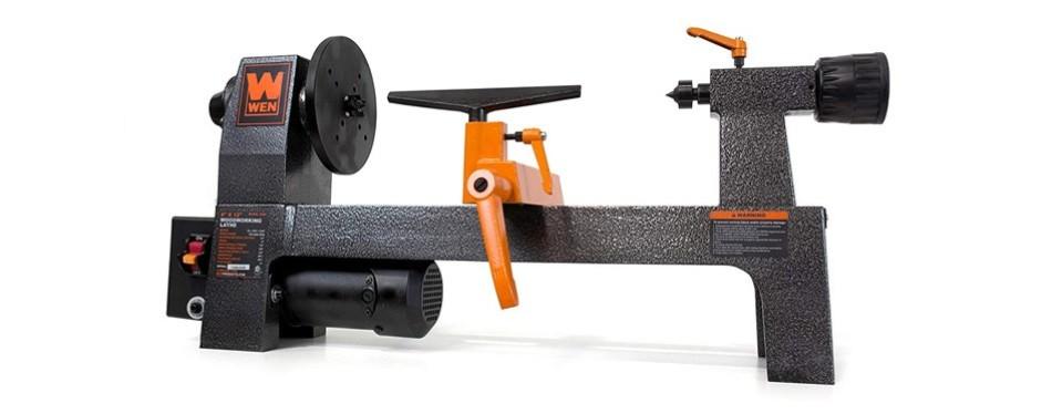 wen variable speed benchtop mini wood lathe