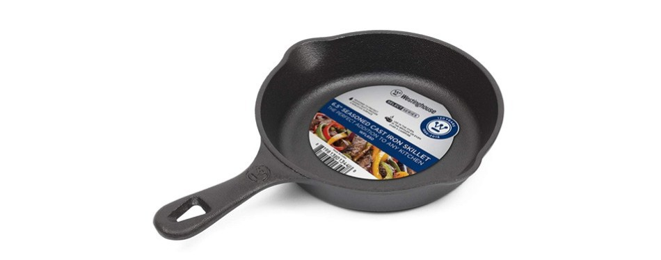 westinghouse wfl650 series seasoned cast iron 6.5-inches skillet