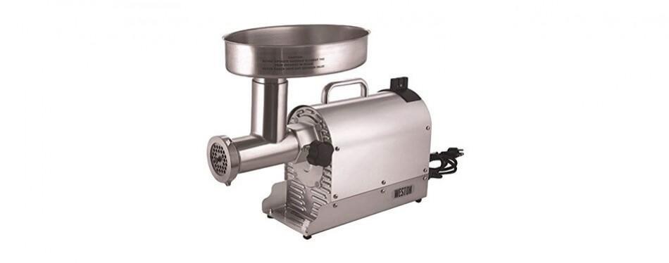 weston (10-3201-w) pro series electric meat grinder